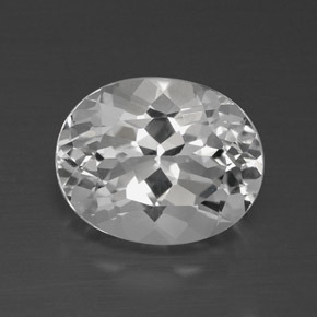 4.6ct Oval Facet Clear White Topaz Gem (ID: 384887)