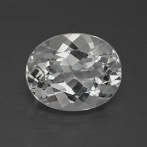 4.3ct Oval Facet Clear White Topaz Gem (ID: 384888)