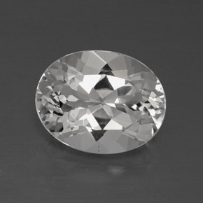 4.1ct Oval Facet Clear White Topaz Gem (ID: 384890)