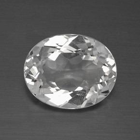 4ct Oval Facet Clear White Topaz Gem (ID: 384892)