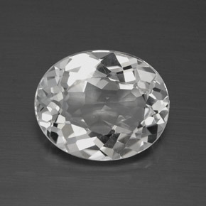 4.1ct Oval Facet Clear White Topaz Gem (ID: 384893)