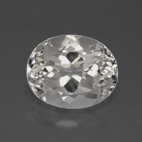 4.9ct Oval Facet Clear White Topaz Gem (ID: 384894)
