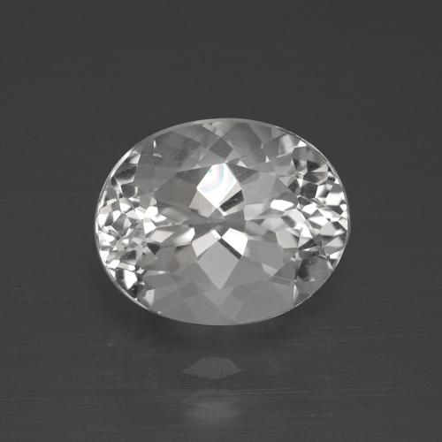 5.4ct Oval Facet Clear White Topaz Gem (ID: 384958)