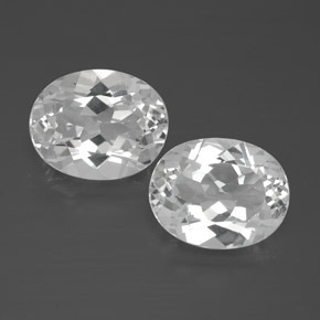 White Topaz Gem - 3.1ct Oval Facet (ID: 385004)