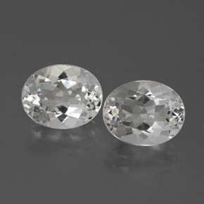 White Topaz Gem - 3.3ct Oval Facet (ID: 385020)