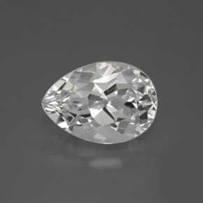 thumb image of 8.3ct Pear Facet White Topaz (ID: 385032)