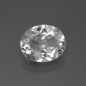 3.7ct Oval Facet Clear White Topaz Gem (ID: 385061)