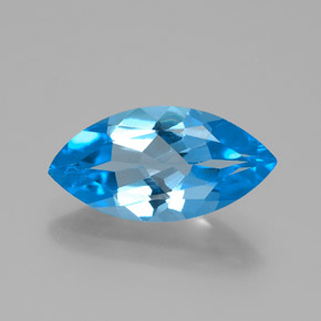 Swiss Blue Topaz Gem - 4.5ct Marquise Facet (ID: 385109)