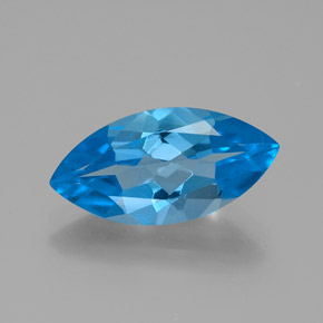 Deep Baby Blue Topaze gemme - 4.5ct Marquise facette (ID: 385118)
