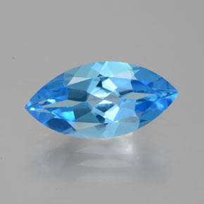 Deep Baby Blue Topaze gemme - 4.8ct Marquise facette (ID: 385123)