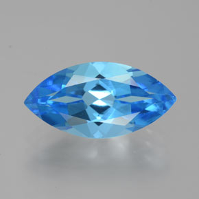 Swiss Blue Topaz Gem - 4.8ct Marquise Facet (ID: 385127)