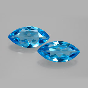 Swiss Blue Topaz Gem - 3.8ct Marquise Facet (ID: 385174)