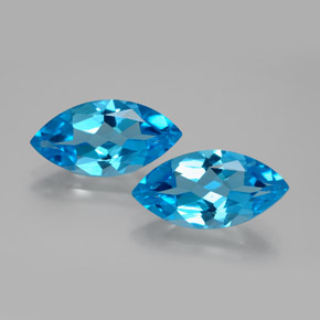 Swiss Blue Topaz Gem - 4.3ct Marquise Facet (ID: 385178)
