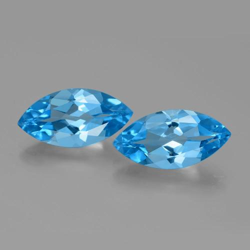 Swiss Blue Topaz Gem - 4.4ct Marquise Facet (ID: 385286)