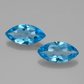 Intense Blue Topaz Gem - 4ct Marquise Facet (ID: 385291)