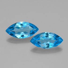 Swiss Blue Topaz Gem - 4ct Marquise Facet (ID: 385292)