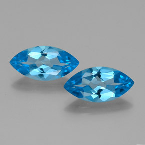 Swiss Blue Topaz Gem - 4.1ct Marquise Facet (ID: 385294)