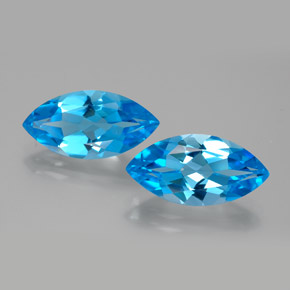 Swiss Blue Topaz Gem - 4.4ct Marquise Facet (ID: 385343)