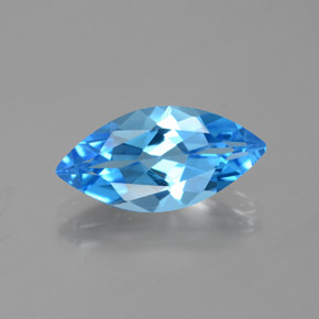 4ct Marquise Facet Dark Blue Topaz Gem (ID: 385383)