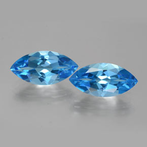 4.44 ct Marquise Facet Dark Blue Topaz Gemstone 15.95 mm x 8 mm (Product ID: 385403)