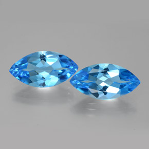 Swiss Blue Topaz Gem - 4.4ct Marquise Facet (ID: 385406)
