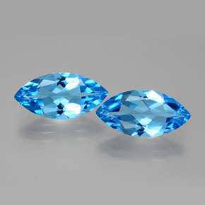 3.8ct Marquise Facet Dark Blue Topaz Gem (ID: 385412)