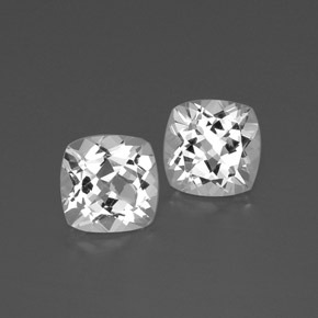 White Topaz Gem - 3.8ct Cushion-Cut (ID: 385768)