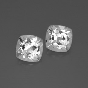 White Topaz Gem - 3.6ct Cushion-Cut (ID: 385772)