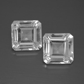 White Topaz Gem - 3.1ct Octagon Facet (ID: 385812)