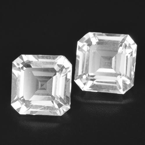 Clear White Topaz Gem - 3.1ct Octagon Facet (ID: 385814)