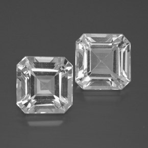 Clear White Topaz Gem - 3.3ct Octagon Facet (ID: 385817)