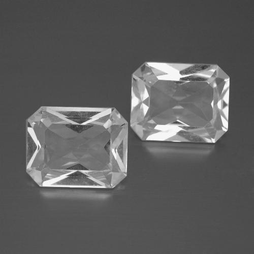 White Topaz Gem - 3.3ct Octagon Facet (ID: 386291)