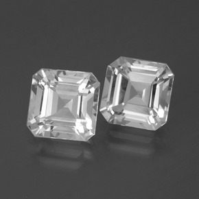 Clear White Topaz Gem - 3ct Octagon Facet (ID: 386417)