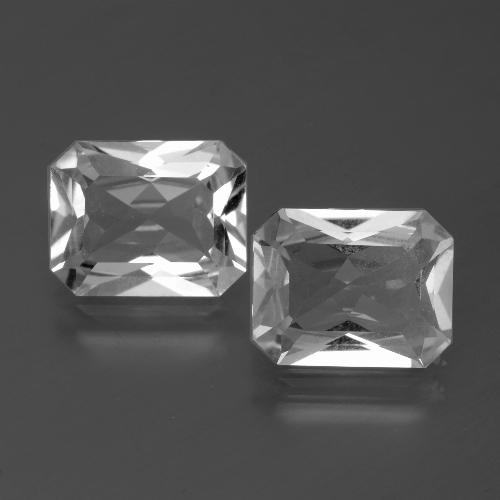 Clear White Topaz Gem - 3.3ct Octagon Facet (ID: 386587)