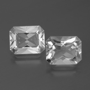 Clear White Topaz Gem - 3.7ct Octagon Facet (ID: 386588)