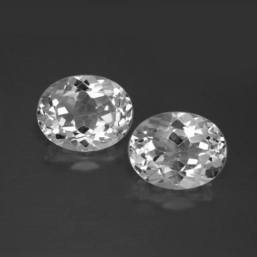 White Topaz Gem - 3.6ct Oval Facet (ID: 386964)