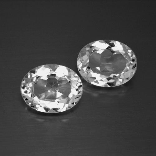 White Topaz Gem - 3.2ct Oval Facet (ID: 386965)