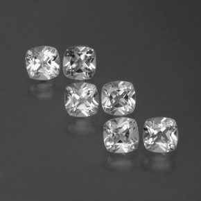 White Topaz Gem - 0.6ct Cushion-Cut (ID: 387104)