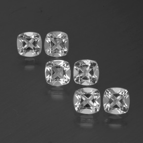 White Topaz Gem - 0.5ct Cushion-Cut (ID: 387113)