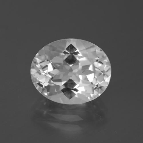 5.2ct Oval Facet Clear White Topaz Gem (ID: 387131)