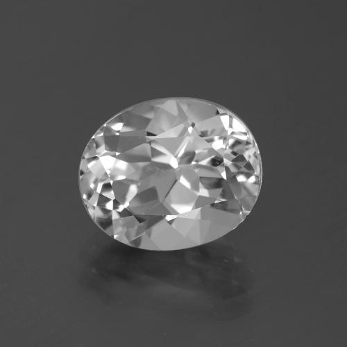 5.1ct Oval Facet Clear White Topaz Gem (ID: 387139)