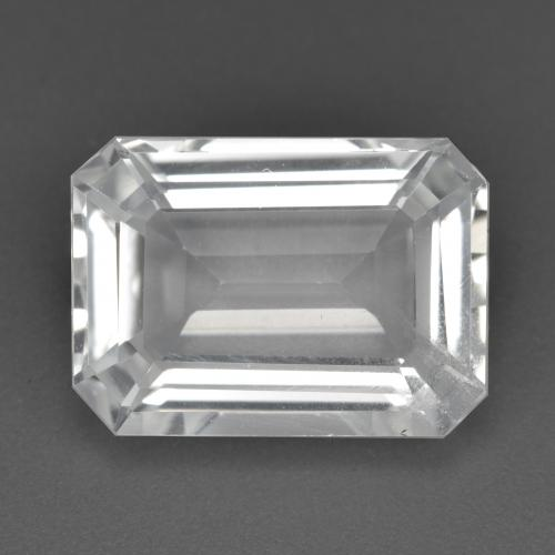 White Topaz Solitaire Ring from Brazil Case and gift box untreated gemstone Natural Emerald Cut 8x6mm Select size. rectangle shape