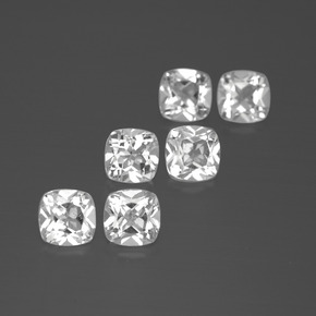 White Topaz Gem - 0.5ct Cushion-Cut (ID: 387202)