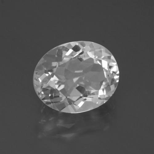 4.7ct Oval Facet Clear White Topaz Gem (ID: 387249)