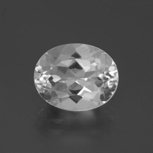 4.6ct Oval Facet Clear White Topaz Gem (ID: 387250)