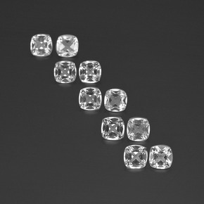 White Topaz Gem - 0.5ct Cushion-Cut (ID: 387358)