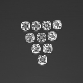 White Topaz Gem - 0.5ct Cushion-Cut (ID: 387362)