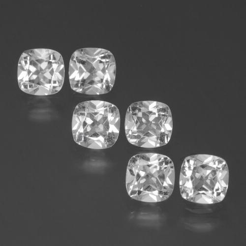 Clear White Topaz Gem - 0.5ct Cushion-Cut (ID: 387387)