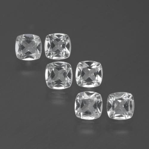 White Topaz Gem - 0.4ct Cushion-Cut (ID: 387828)