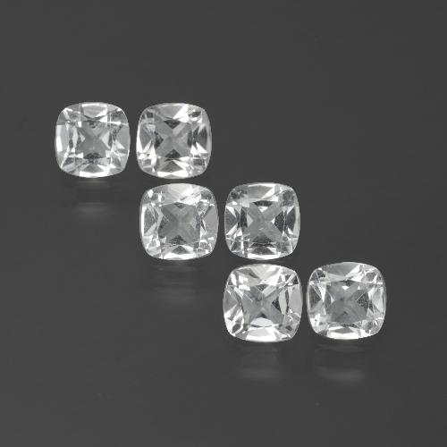 White Topaz Gem - 0.5ct Cushion-Cut (ID: 388103)